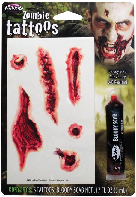 Temporary Tattoo Zombie Kit