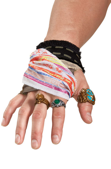 Pirates of the Caribbean Captain Jack Sparrow Hand Accessory Kit Costume