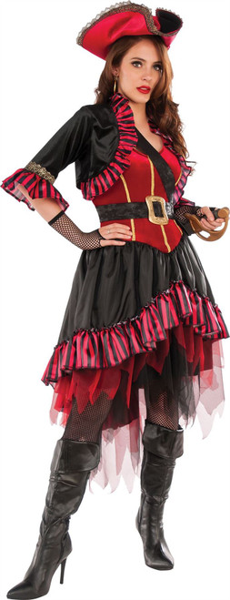 Lady Buccaneer captain pirate carribean adult womens Halloween costume