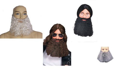 Curly Beard adult mens Pirate Halloween costume accessory