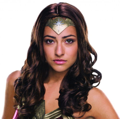 DELUXE adult Wonder Woman Wig womens Halloween costume accessory