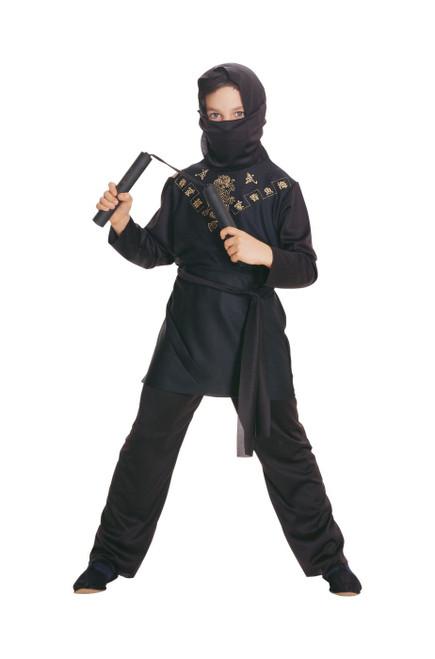 boys Black Ninja kids child Halloween costume