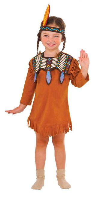 girls Indian Maiden Pocahontas toddler Thanksgiving Halloween costume