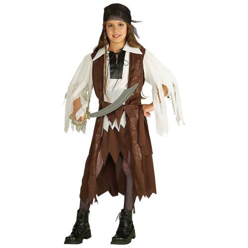 Caribbean Pirate Queen kids girls Halloween costume