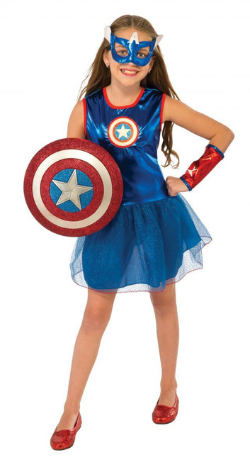 girls American Dream Captain America kids Marvel Classic Halloween costume