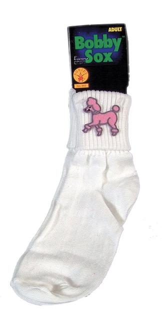 Adult Bobby Socks 50s Poodle