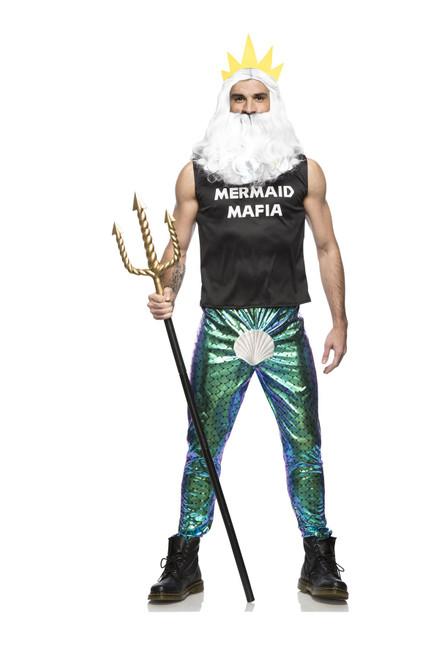 Manly Merman Mermaid Mafia Mens King of the Ocean Halloween Costume