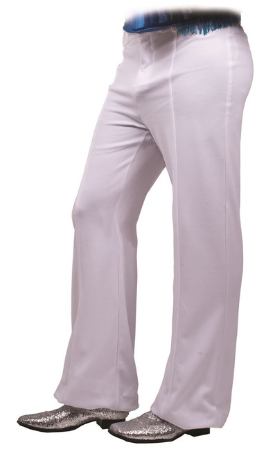 White Disco Mens 70s Pants