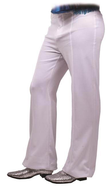 White Disco Mens 70s Pants