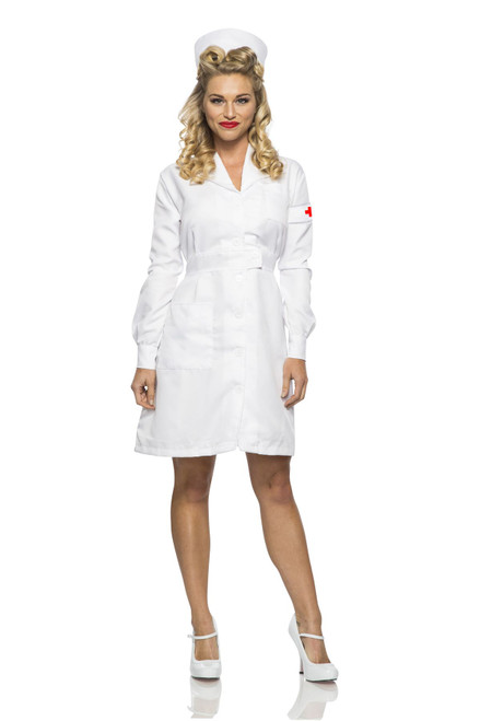 Ladies Vintage Nurse Costume