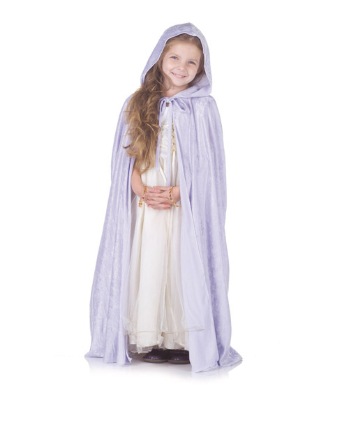Light Blue Panne Cape Child Costume One Size