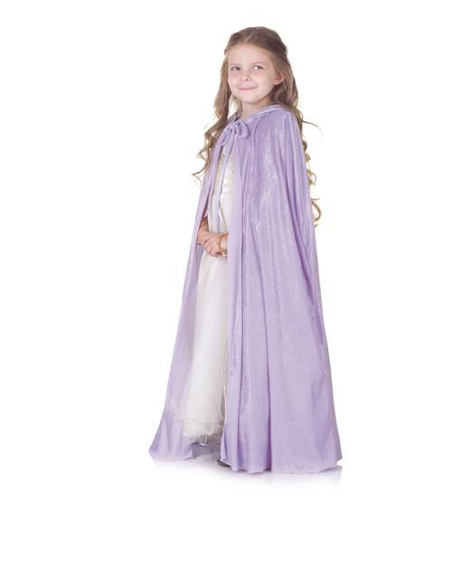 Lavender Panne Cape Child Costume One Size