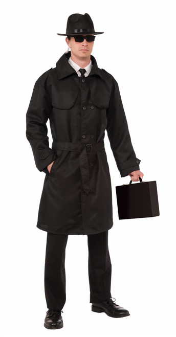 Secret Agent Trench Coat Halloween Costume One Size