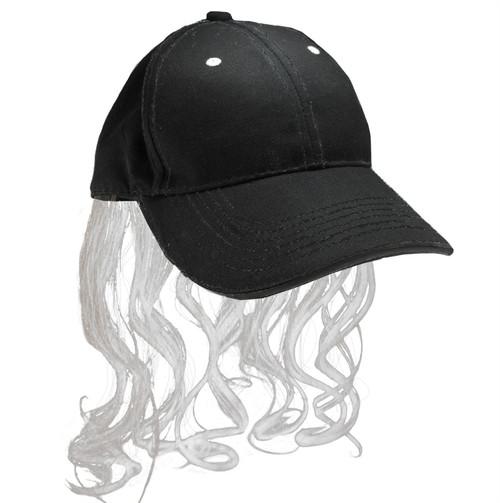 Billy Ray Mullet Hat Gray Platinum wig cap red neck mens hillbilly halloween costume