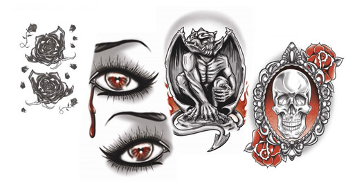 Gothic Based Tinsley Transfers Temporary Tattoos