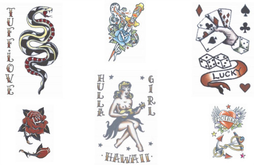 Vintage 1940s 1950s Tinsley Transfers Temporary Tattoos