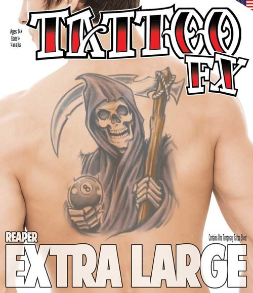Extra Large - Reaper - Tinsley Transfers Temporary Tattoo