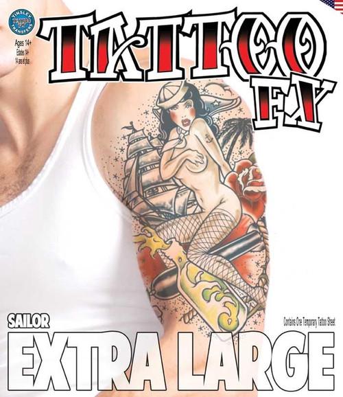 Extra Large - Sailor - Tinsley Transfers Temporary Tattoo