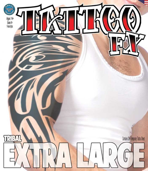Extra Large - Tribal - Tinsley Transfers Temporary Tattoo