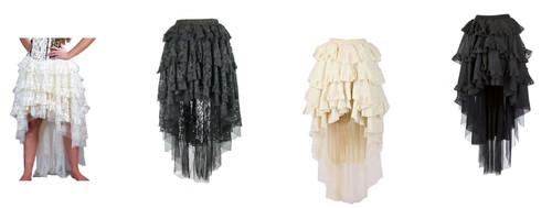 Ophelie Long Burlesque Skirt Steampunk LARP Cosplay