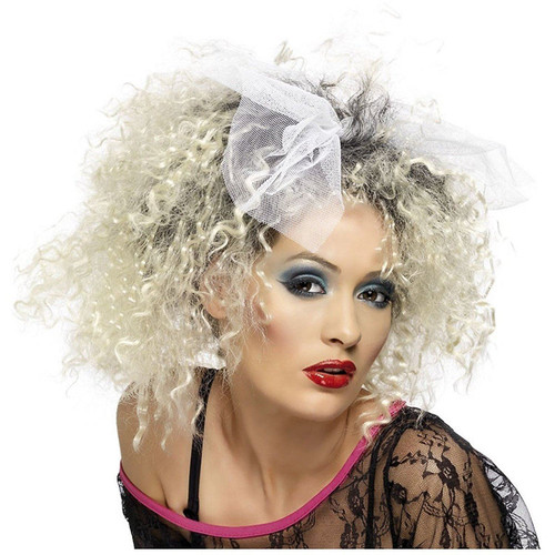 80s Wild Child Madonna Adult Womens Wig with Bow