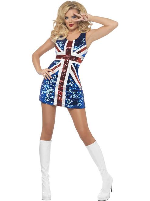 Fever All That Glitters Rule Britannia Costume Medium