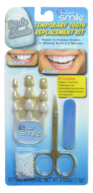 Instant Smile Select a Tooth Temporary Tooth Replacement Kit - Triple Shade