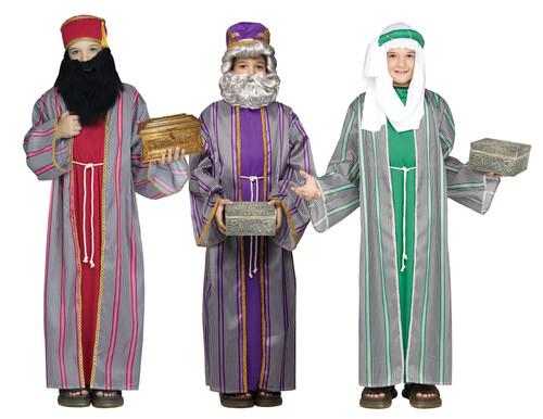 3 Wise Men Child Costume Boys Biblical Christmas Manger Nativity Wiseman