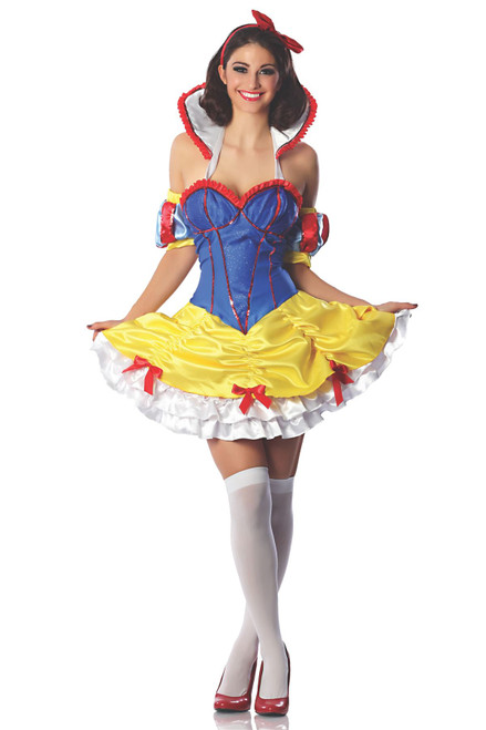 SNOW WHITE princess sexy womens adult dress costume halloween S/M