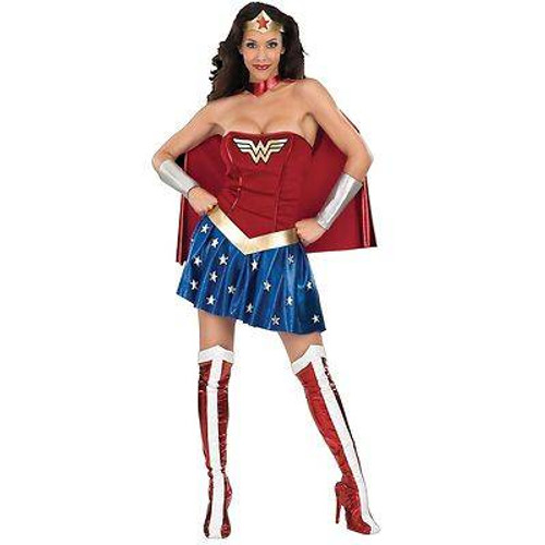WONDER WOMAN super hero classic womens comic halloween costume LARGE