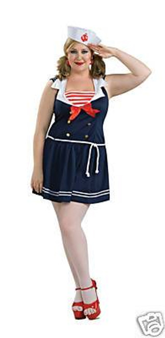 SAILOR GIRL sexy womens plus halloween costume 18-20
