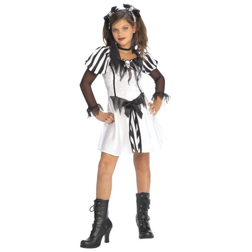 PUNK PIRATE girls gothic dress up halloween costume S