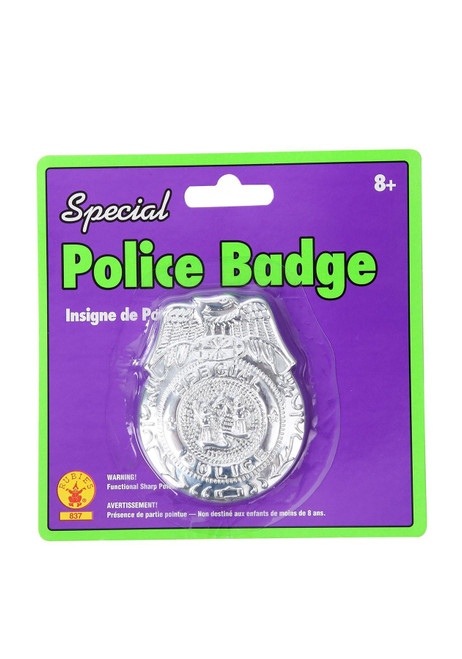 Rubies Special Silver Police Officer Badge Halloween Costume Accessory