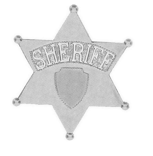5 Inch Jumbo Sheriff Star