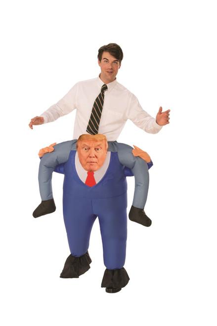Trump piggyback inflatable adult costume