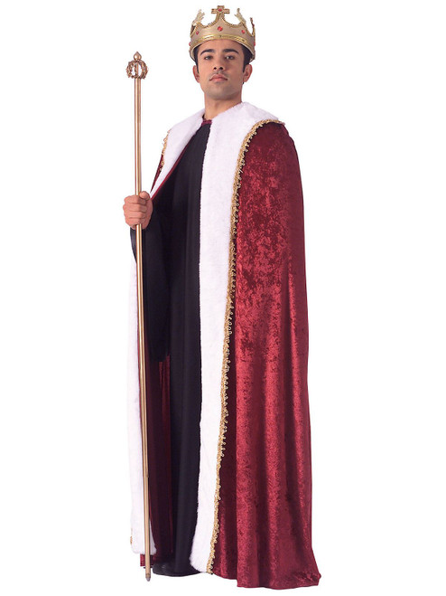 Adult King Robe Burgandy One Size Fits Most