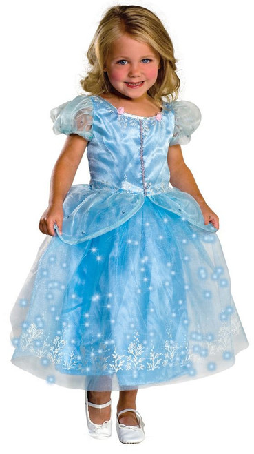 Blue Crystal Princess Girls Costume