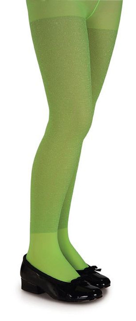 Lime Green Glitter Witch Tights
