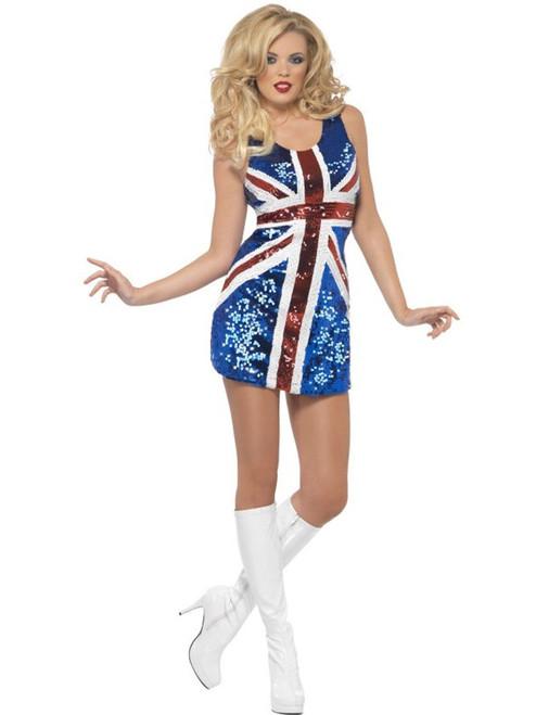 Women's Fever All That Glitters Rule Britannia Adult Costume