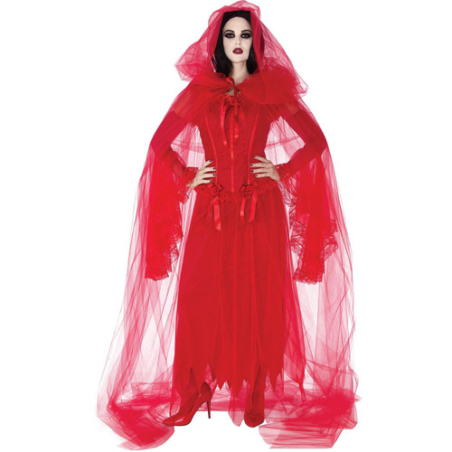 Womens Demon Cursed Scarlet Cape