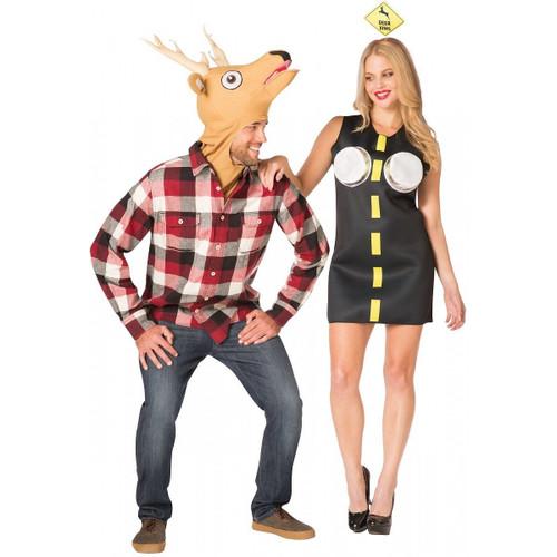 Deer in Headlights Couple Costume Set Funny
