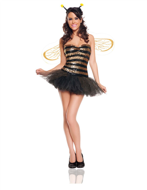 Womens Bumble Bee Sexy Halloween Costume - Large