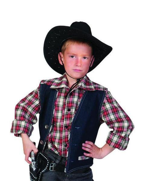 Boy's Plaid Cowboy Shirt Costume