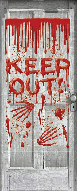 Keep Out Bloody Door Cover