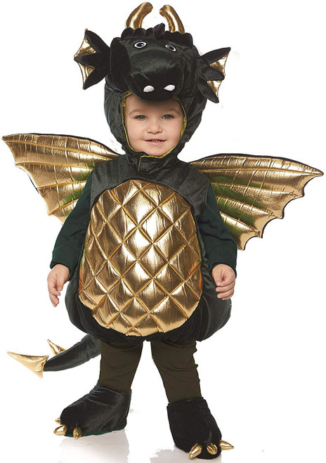 Underwraps Dragon Boys Toddler Green Belly Baby Costume Medium 18/24M