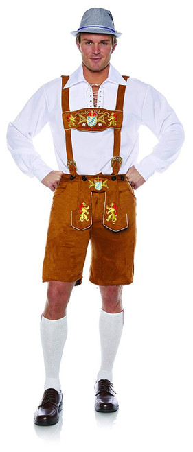 Underwraps Men's Deluxe Lederhosen Theme Party Outfit Halloween Costume One Size