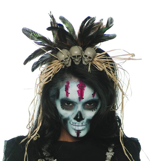 Witch doctor adult costume headband - one size