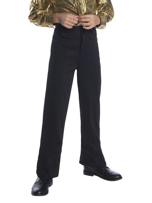 Boys Black Disco Pants