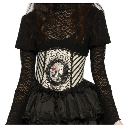 Skeleton Skeletal Waist Cincher adult womens Halloween costume accessory