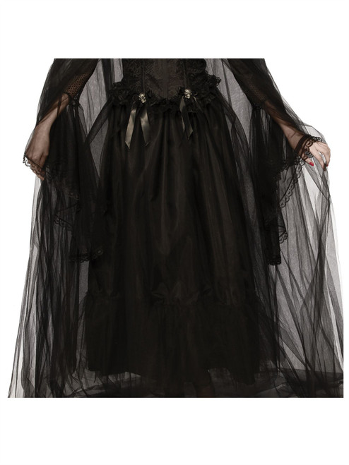 Long Soulless Skirt Tulle Witch Gothic adult womens Halloween costume accessory
